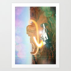Flyin' Car I Art Print