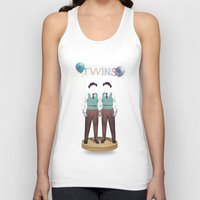 twins Tank Tops featuring TWINS by Nazario Graziano