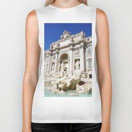 Make a Wish: Trevi Fountain in Rome, Italy Biker Tank