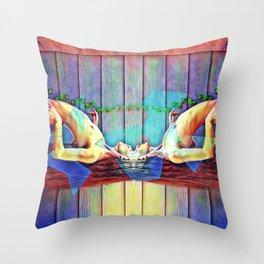 Where minds meet Throw Pillow