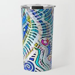 Under the Sea Abstract Nautilus  Travel Mug