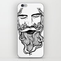 beard iPhone & iPod Skins featuring Beard  by Holly Harper