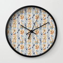 Oleander Floral Pattern Wall Clock