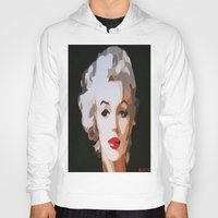monroe Hoodies featuring Monroe by The Art Of Gem Starr