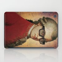 mozart iPad Cases featuring Funny Hipster Mozart by Paul Stickland for StrangeStore