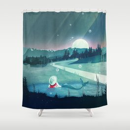 A Mermaid's Dream Shower Curtain