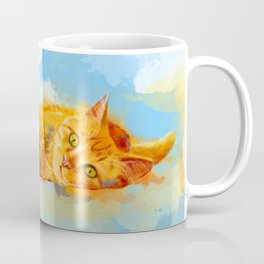 Cat Dream - orange tabby cat painting Coffee Mug