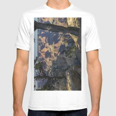 The Grand Canyon and Trees. Mens Fitted Tee White MEDIUM