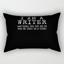 I Am A Writer Gift Funny Author Gifts Gift For Writer Rectangular Pillow