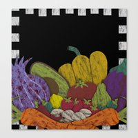 cook Canvas Prints featuring Cook by elvia montemayor