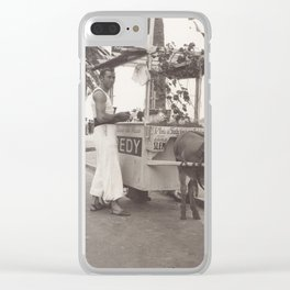Vintage ice cream street vendor in Cannes France Clear iPhone Case
