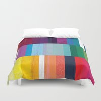stripes Duvet Covers featuring Stripes by Kakel
