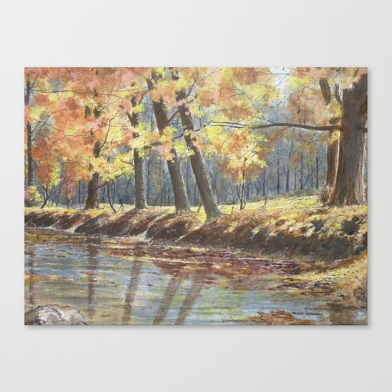 River Bank Canvas Print