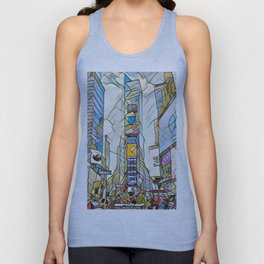 NYC Life in Times Square Unisex Tank Top
