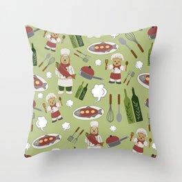 Alaskan Culinary Artists Lime Green Throw Pillow