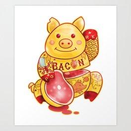 Lucky Pig Art Print