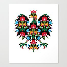 POLISH EAGLE | Poland WYCINANKI Emblem, Polish Fest T-shirt Canvas Print