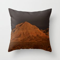 Desert Alpenglow Throw Pillow