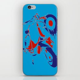 Mods Bike Pop Style Collage iPhone Skin