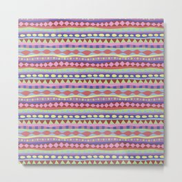 Stripey-Coolio Colors Metal Print