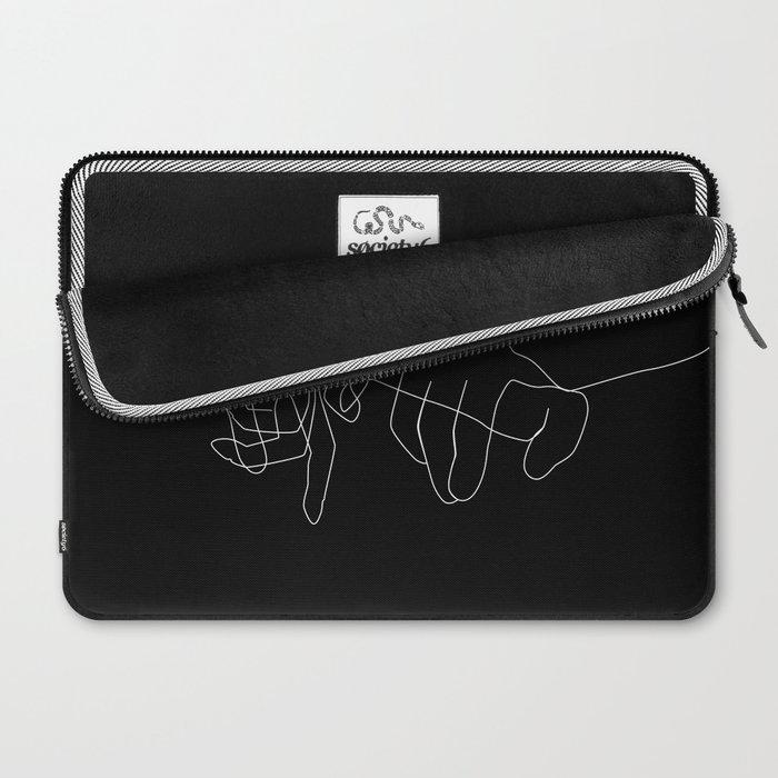 Black Pinky Swear Laptop Sleeve