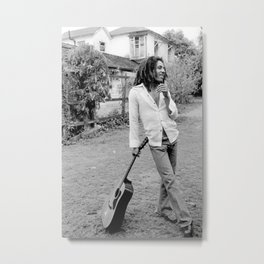 Bob Marle-y Reggae Icon Poster, High Quality Print, Vintage Art Photography Picture, Home Décor Wall Art Fashion Monochrome Sizes A5/A4/A3 Metal Print