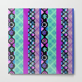 Striped patchwork -3 Metal Print