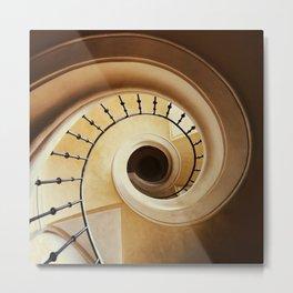 Spiral Staircase in brown tones Metal Print