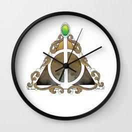 Deathly Hallows w/green Wall Clock