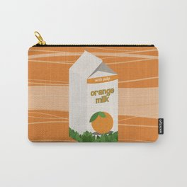 Orange Milk Carry-All Pouch