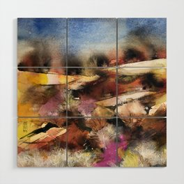 Abstract Tuscan Landscape Wood Wall Art