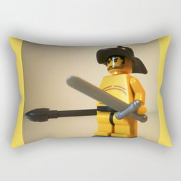 SPARTACUS THE GLADIATOR CUSTOM LEGO MINIFIG by Chillee Wilson Rectangular Pillow