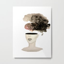 Is your brain leaking? Metal Print