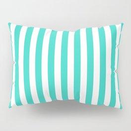 STRIPED DESIGN (TURQUOISE-WHITE) Pillow Sham