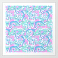 Psychedelic Marble Art Print