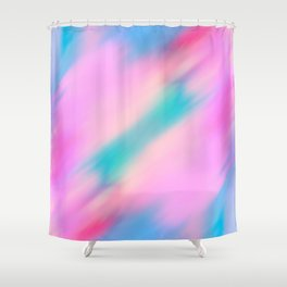 Abstract pink lilac teal watercolor brushstrokes Shower Curtain