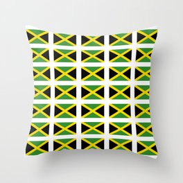 Flag of Jamaica 2-Jamaican,Bob Marley,Reggae,rastafari,cannabis,ganja,america,south america,ragga Throw Pillow