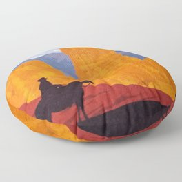Bryce Canyon National Park Travel Poster Floor Pillow