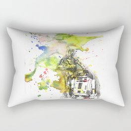 C3PO and R2D2 from Star Wars Rectangular Pillow