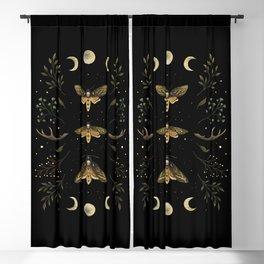 Death Head Moths Night Blackout Curtain