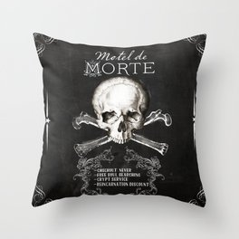 Motel de Morte Throw Pillow