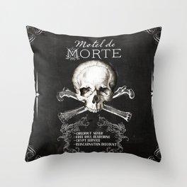 Motel de Morte Throw Pillow
