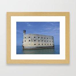 The famous fortification Fort Boyard - France Framed Art Print