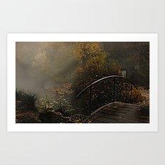 Bridge to the unknown Art Print