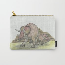 Pachycephalosaurus in Graphitint & Ink / Line + Wash Carry-All Pouch