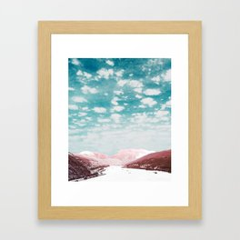 Riverbeds and Mountaintops Framed Art Print