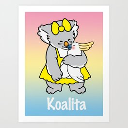 Koalita and friend Art Print