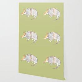 Stich and Fauna:  Armadillo Wallpaper