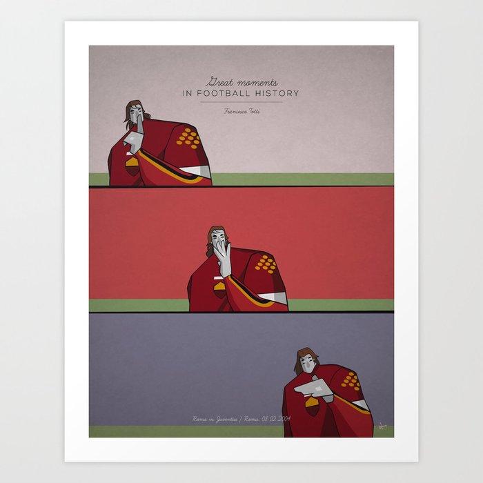 Totti Art Print