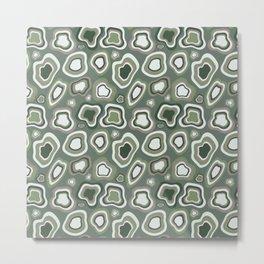 Sage Blobs In Blobs Metal Print